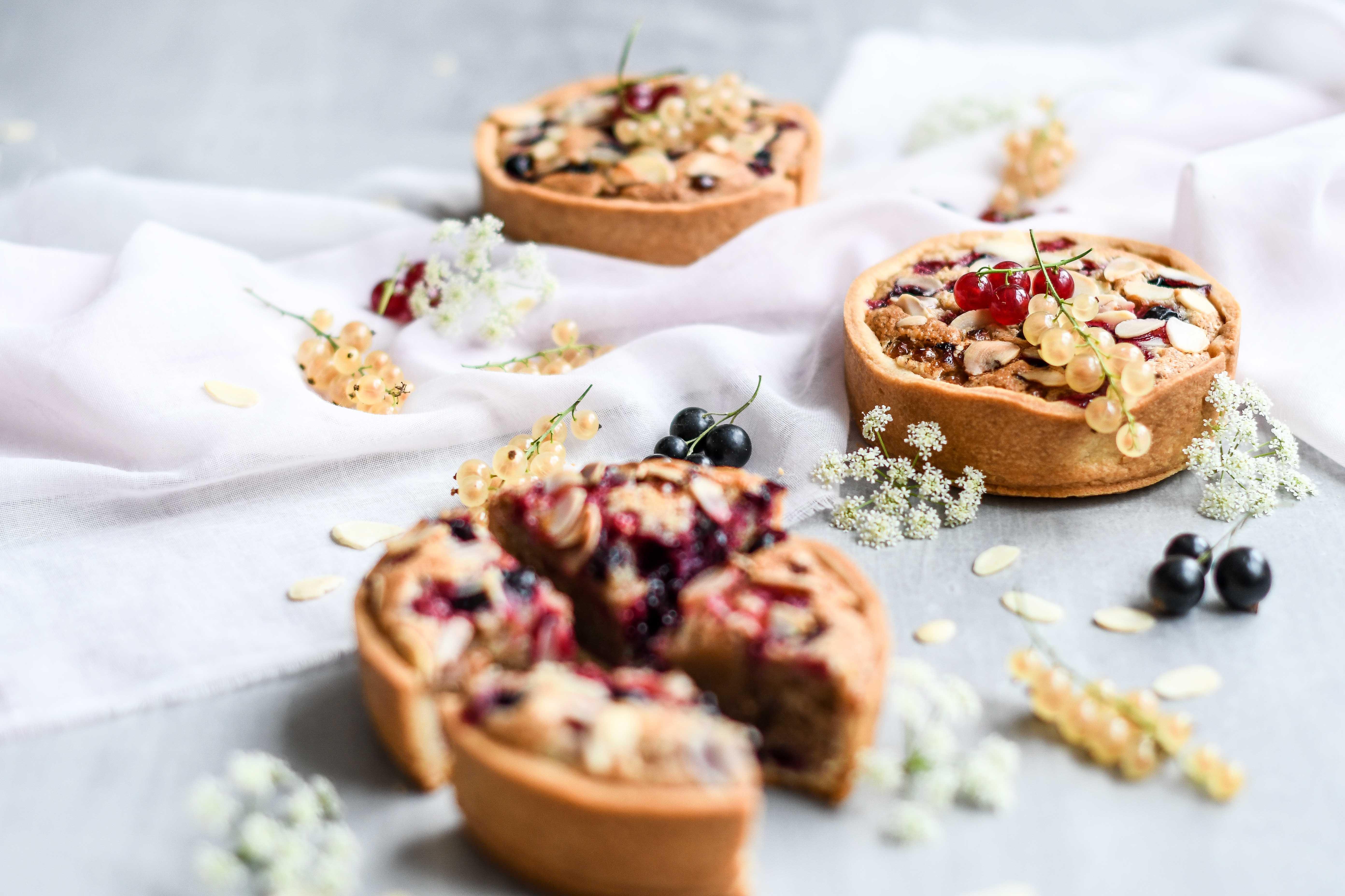 mandlový tart / almond frangipane tart