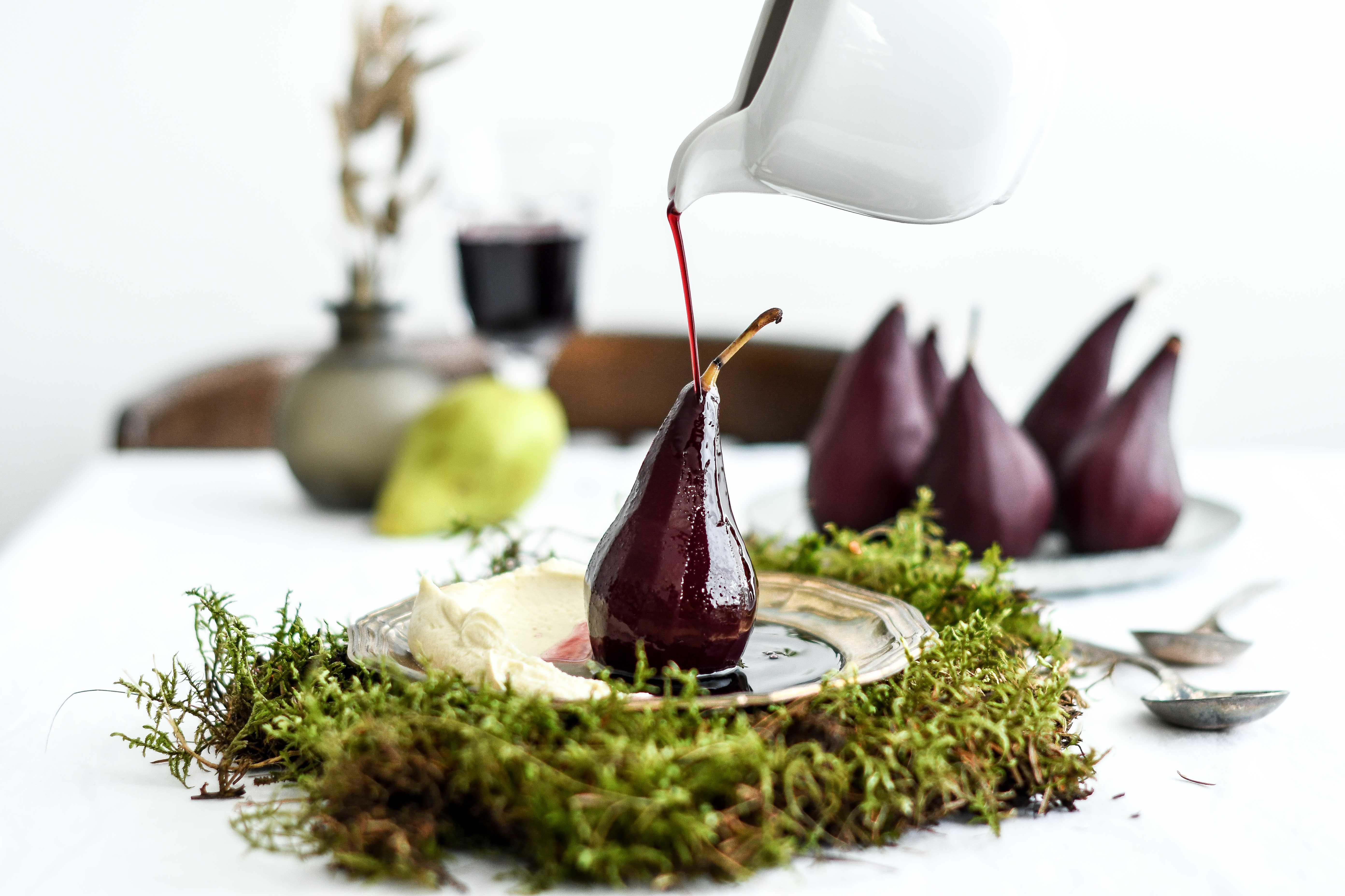 poached pears / varene hrusky