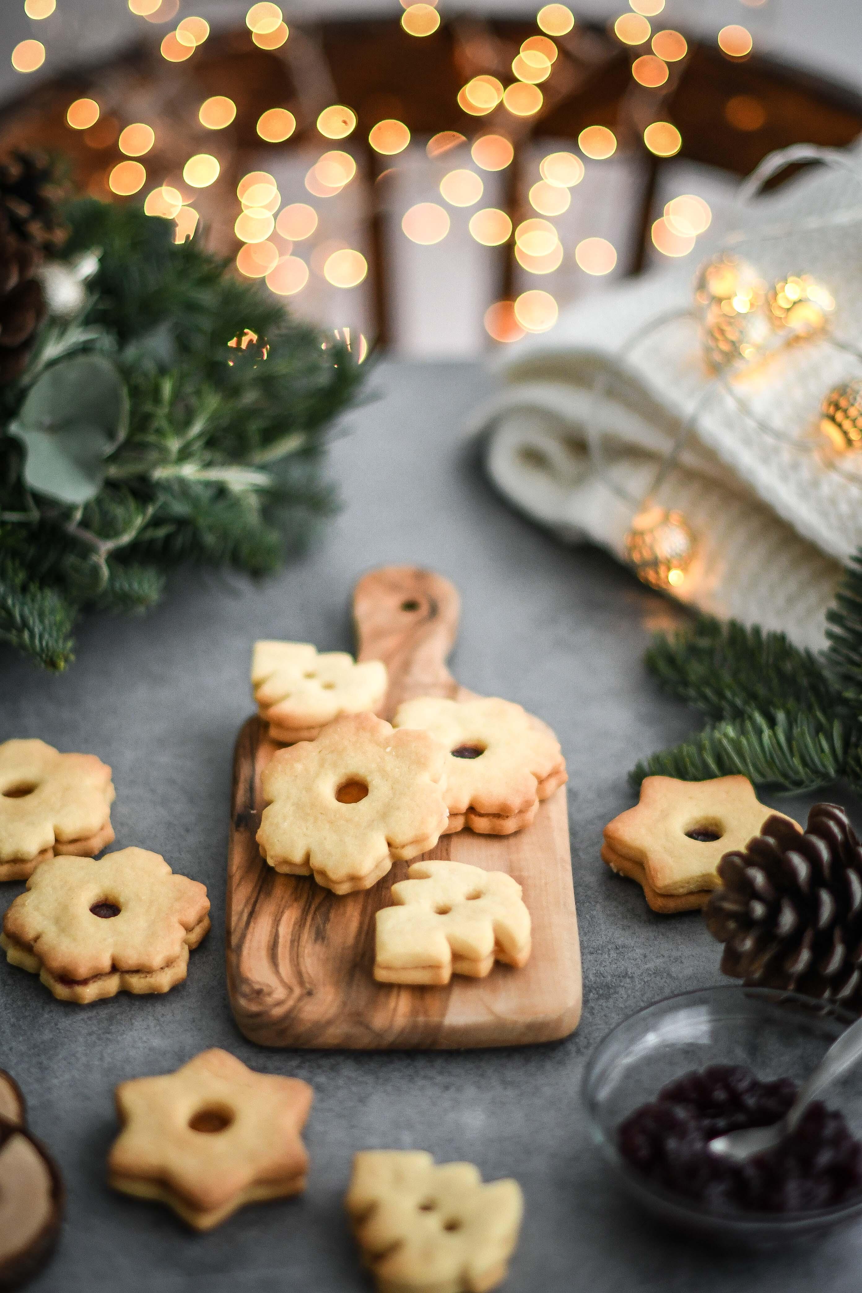 linecke kolaciky linzer cookies