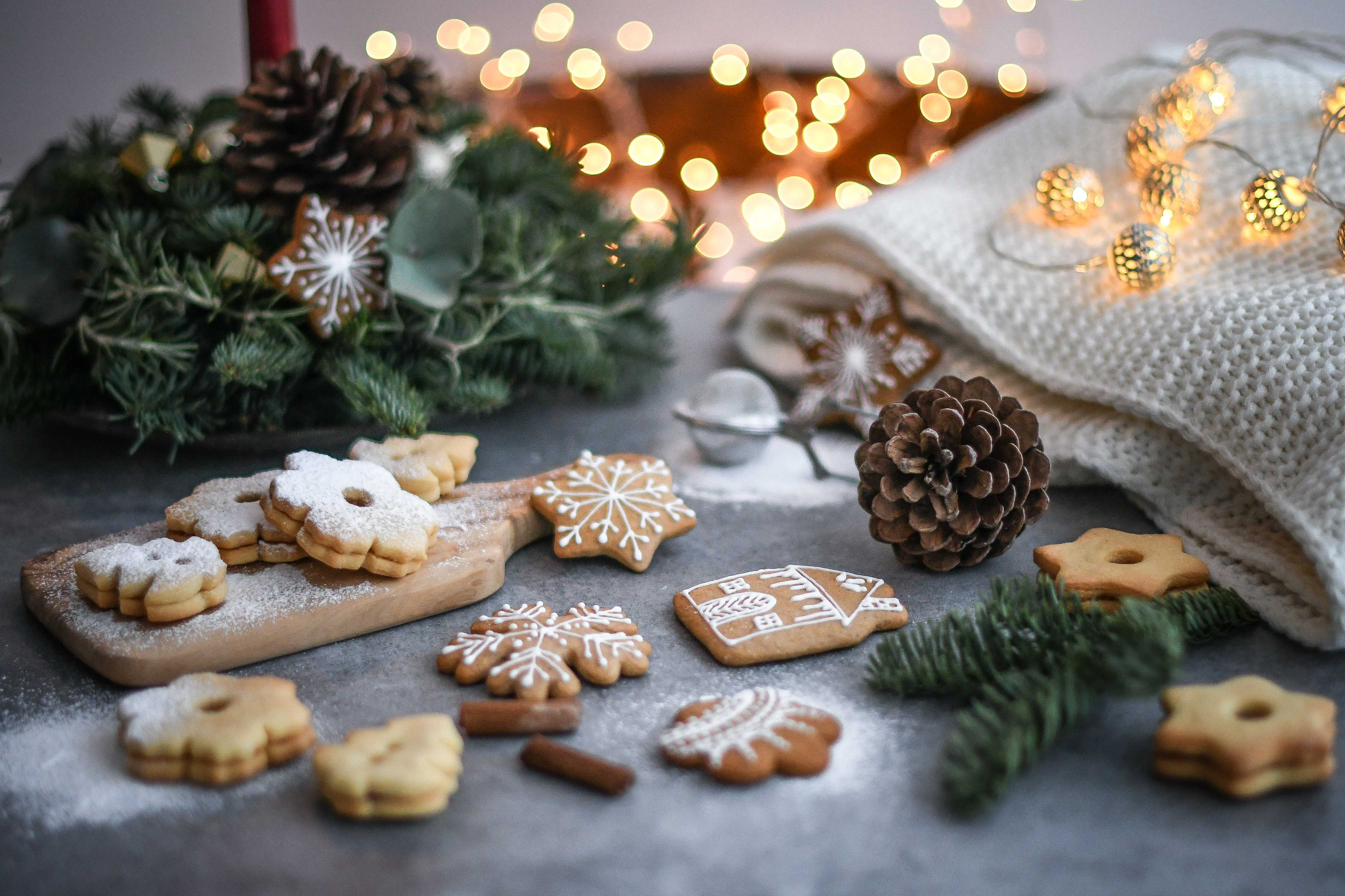 linecké a medovníky linzer gingebread cookies photography