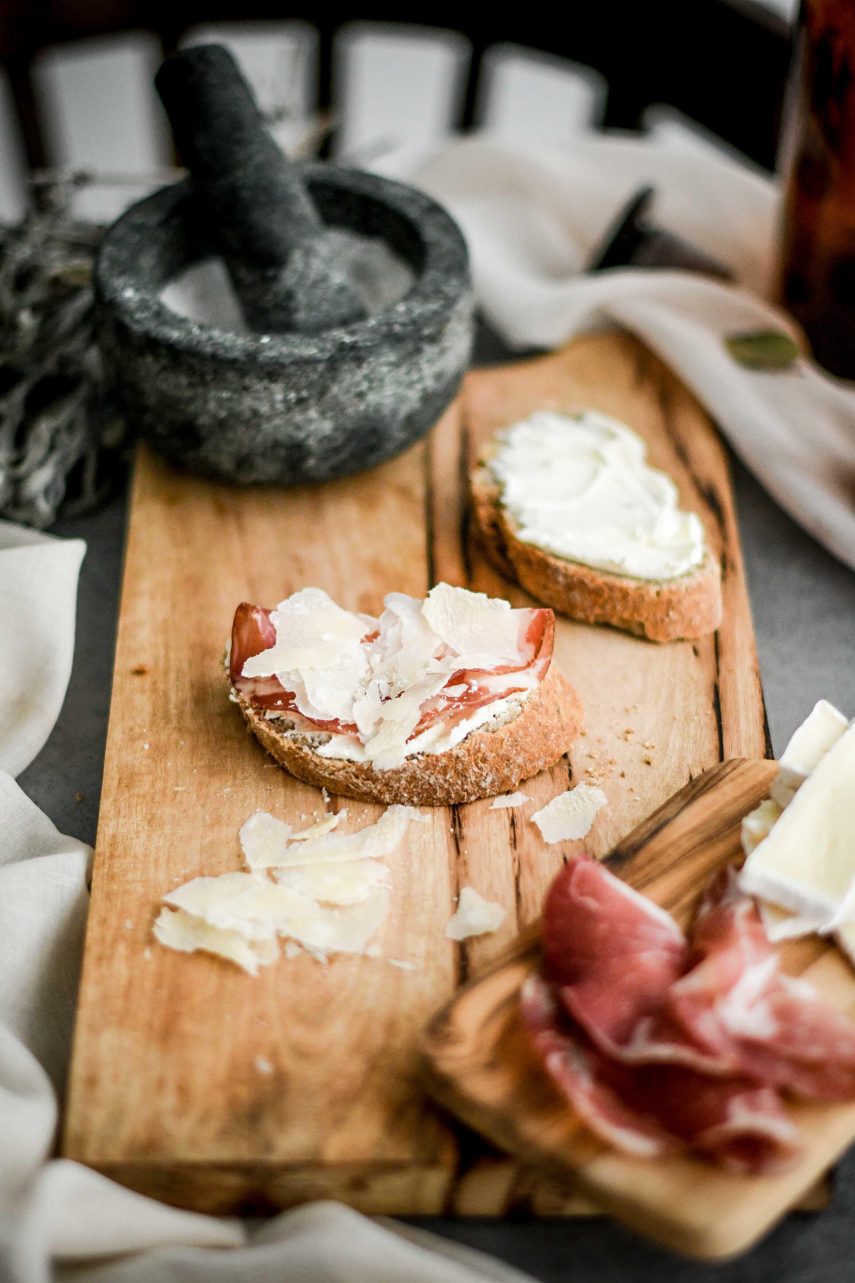 open sandwiches / obložené chlebíky photography