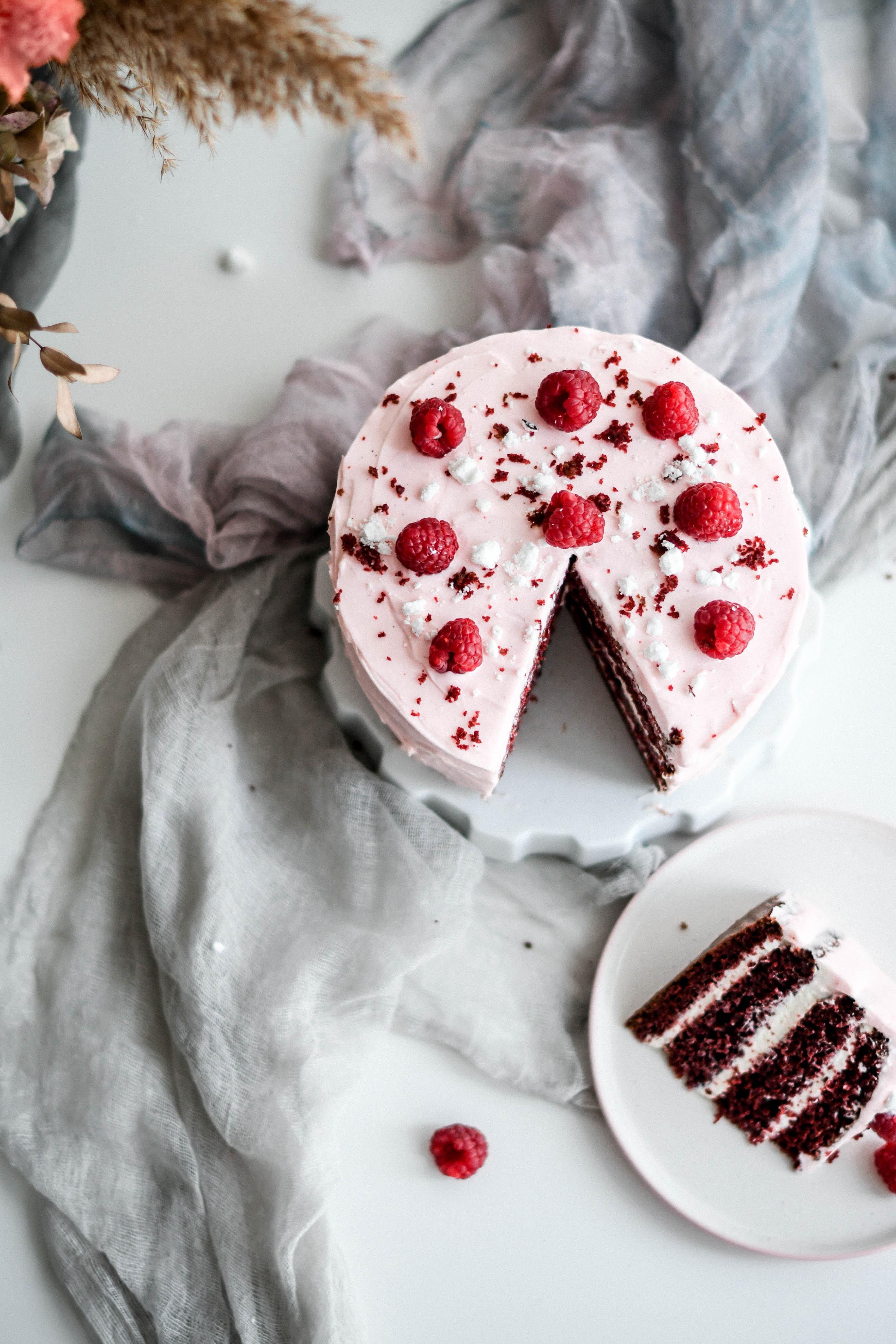 red velvet cake torta photography