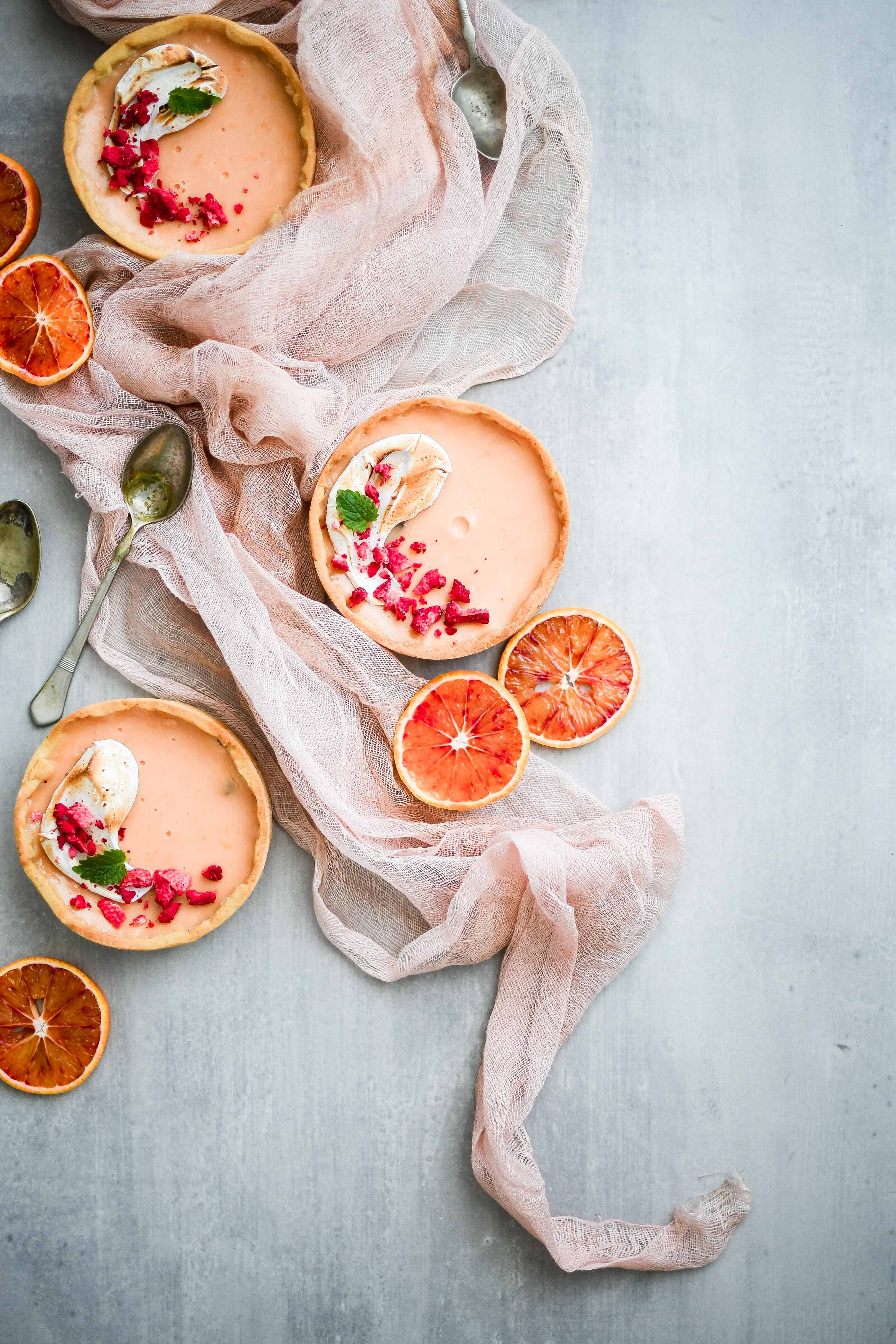 blood orange tarts | pomarancove mini tarty