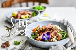 steak salad salat photography
