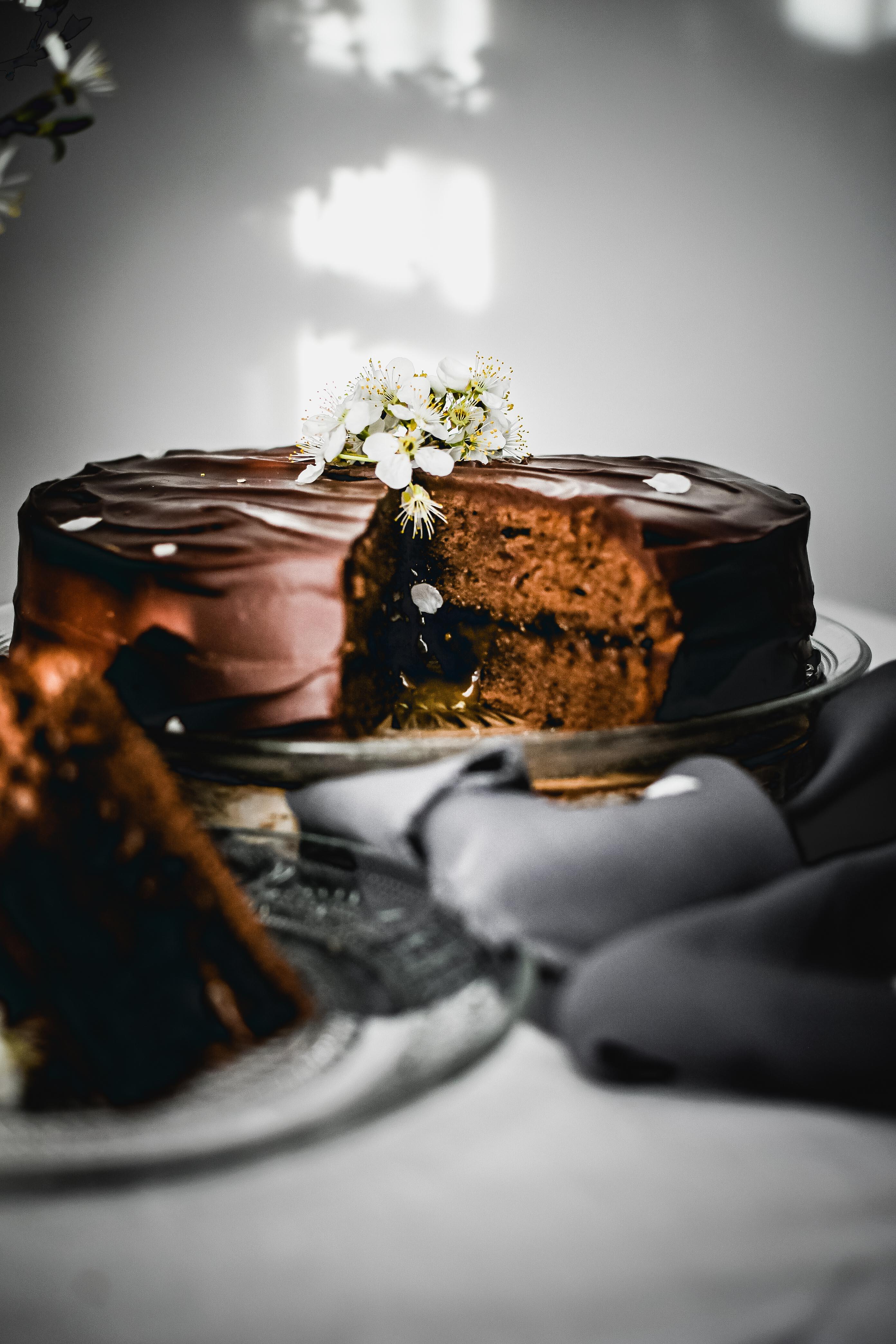 sacher cake photography torta