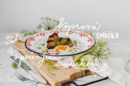 dill sauce hasselback potatoes photography kôprová omáčka