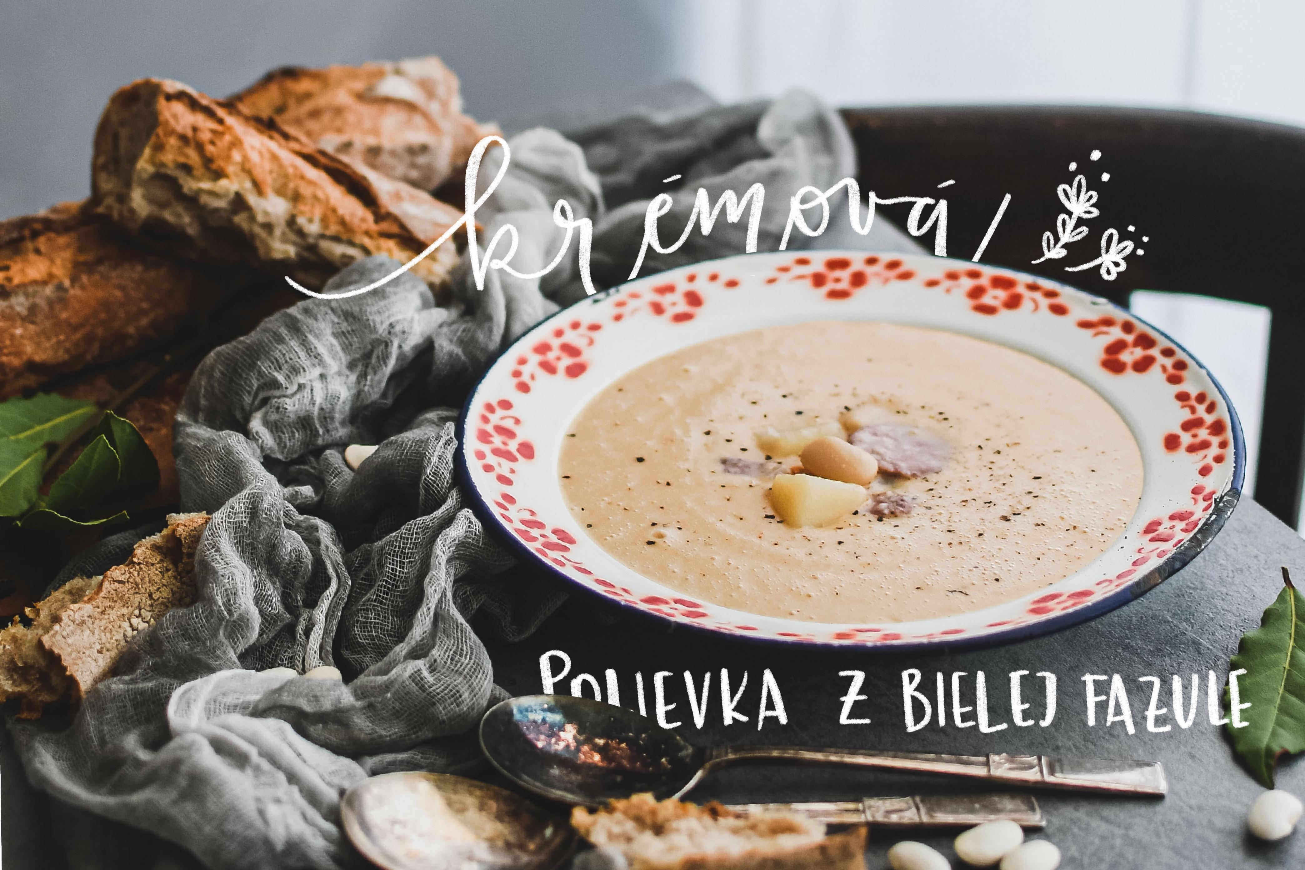 white bean soup polievka z bielej fazule