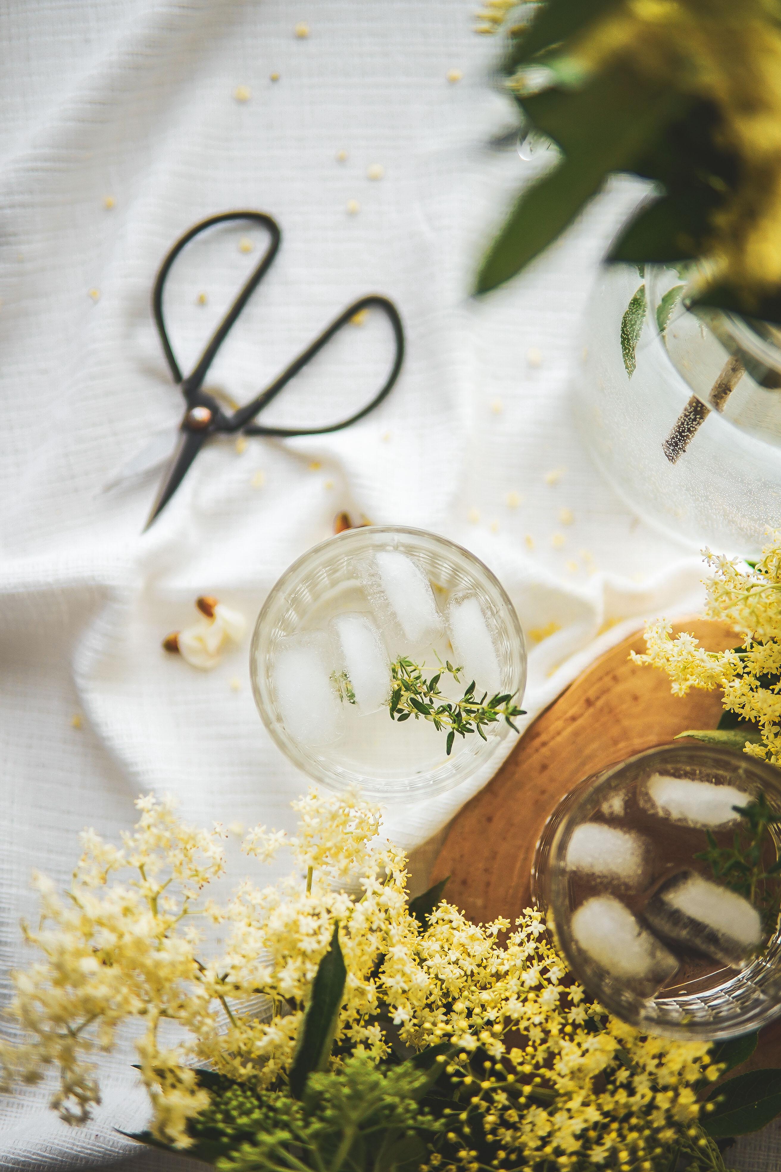 elderflower syrup bazový sirup photography