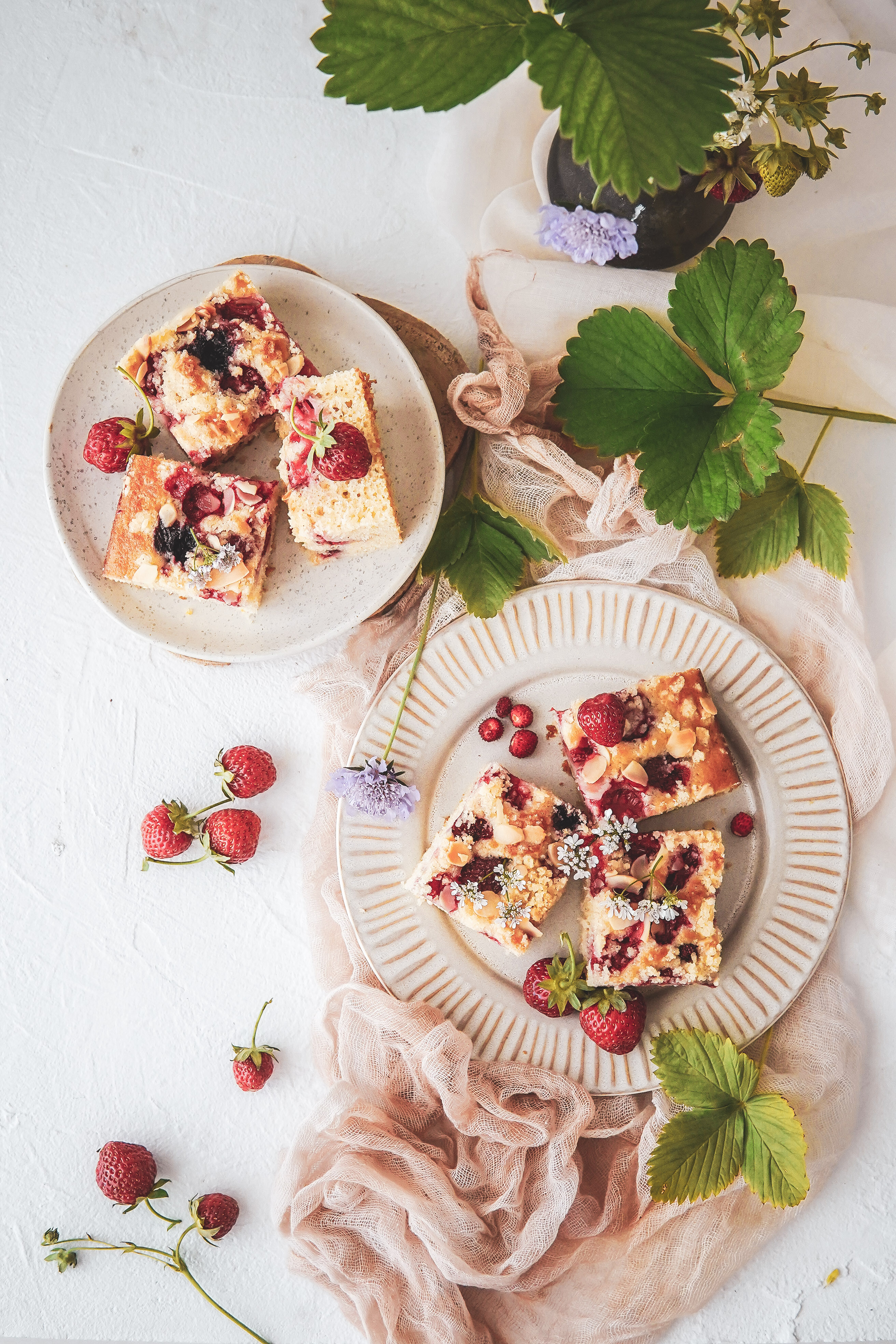 strawberry pound piskotovy kolac s jahodami photography